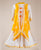 Kids Ethnic Wear White Tasseled Dress With Yellow Waterfall Shrug
