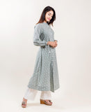 Cotton Printed A-Line Kurta with Pants online shopping for women and girls