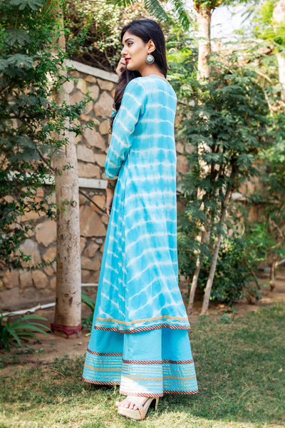 block printed Double long designer Dresses for girls online