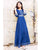 Perfect Fit Indigo Blue Long Gota Gown Dress