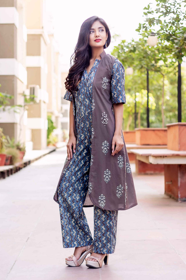 3525f81aedc8 Block Printed Dresses - Buy Long Indo Western Outfit for Women Online