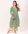 Green and Yellow  Hand Block Printed Cotton Kurta ( 1 Pc. )
