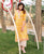 Yellow Straight Cut Printed Kurta ( 1 Pc. )