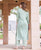 Mint Green Straight Cut Kurta with Gota Lace