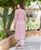 Pink Straight Cut Block Printed Kurta