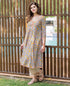 A Cut Grey Block Printed Kurta ( 1 Pc. )