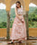 Dusty Pink Indowestern Dress with Detachable Georgette Jacket