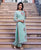 Mint Green Straight Long Kurta ( 1 Pc. )