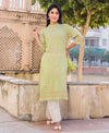 Light Green and White Kurta Set