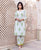 White and Green Hand Block Printed Kurta ( 1 Pc. )