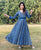 Indigo Multi Hand Block Printed Anarkali Dress