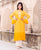Designer Straight Yellow Embroidered Kurta ( 1 Pcs. )