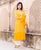 Straight Yellow Embroidered Kurta Set