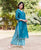 Teal Blue Hand Block Printed Kurta Set