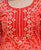 Red and Grey Embroidered Bandhej Kurta Set