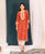 Red Jaal Printed Kurta Set