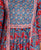 Blue and Red Hand Block Printed Kurta Set
