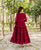 Maroon Tiered Hand Embroidered Dress