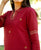 Maroon Embroidered Chanderi Kurta