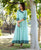 Mint Green Hand Embroidered Angrakha Style Dress