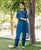 Berry Blue Hand Embroidered Chanderi Kurta (1 Pc.)