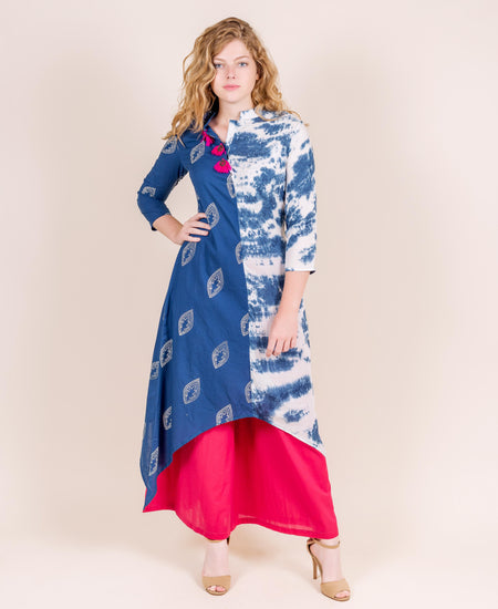 Cape Style Indo Western Dress with Front Tassels