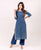 Indigo Straight Kurta With Pleated Palazzo Online