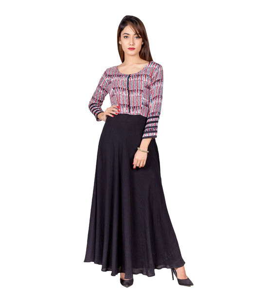Indo Western Long Dress