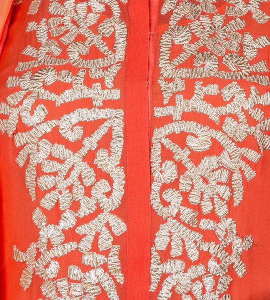 Embroidered Jacket Style Short Kurta