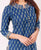 Indigo Straight Cut Kurta With Gota Lace Trim ( 1 Pc. )