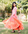Peach Ombre Tier Long Dress