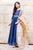 Perfect Fit Indigo Blue Long Gowns Dress with Dupatta for Women Online