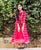 Red Tie and Dye Double Layered Long Dress for Baby Girl
