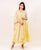 Yellow Tiered Solid Suit Set with Block Printed Dupatta