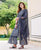 Grey Kurta with Sharara and Net Dupatta