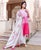 Ombre Pink and White Kurta Set with Chanderi Dupatta