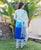 Blue Ombre Kurta with Hand Block Printed Pants and Chanderi  Dupatta