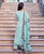 Mint Green Straight Long Kurta Set with Kota Doriya Dupatta