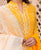Yellow Embroidered Suit Set with Chanderi Dupatta