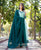 Mint Green Hand Embroidered Angrakha Style Dress with Dupatta.