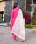 French Rose Hand Embroidered Dhoti Set with Chanderi Dupatta