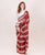 Brick Red & OffWhite Chanderi Silk Saree