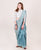 Mint Blue & Offwhite Chanderi Silk Saree