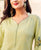 Stand Collar with side slit straight kurta for women