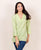 Lime Green Designer Linen Top