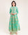 Green Chanderi Anarkali Long Indo Western Dress