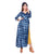 Indigo Tie and Dye Side Knot Wrap Dress
