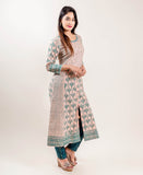 Embroidered Block Printed suit with pants online for women