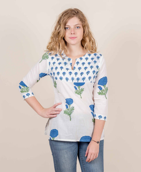 block printed tops