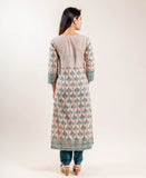 Embroidered Cotton kurti with pants for women online shopping